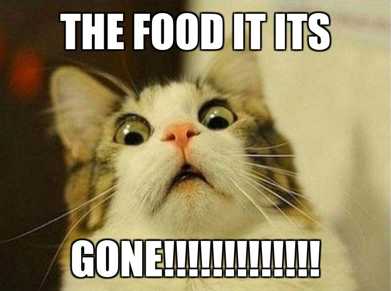 GONE!!!!!!!!!!!!!; The food it its