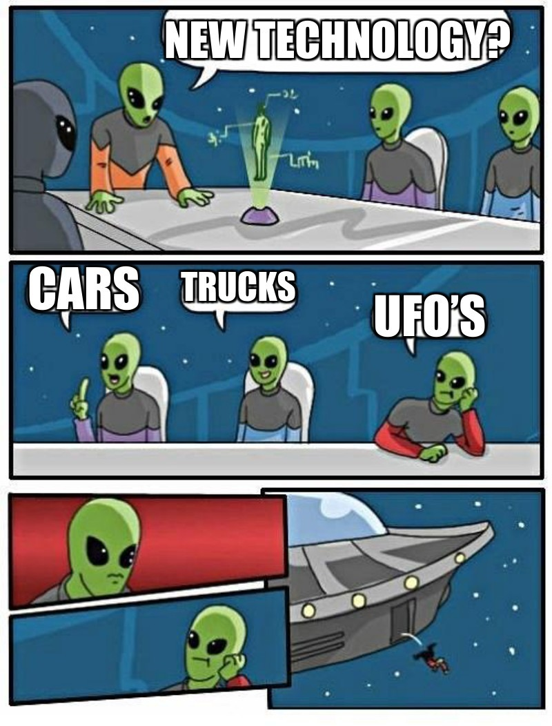 Cars; UFO's; Trucks; New technology?