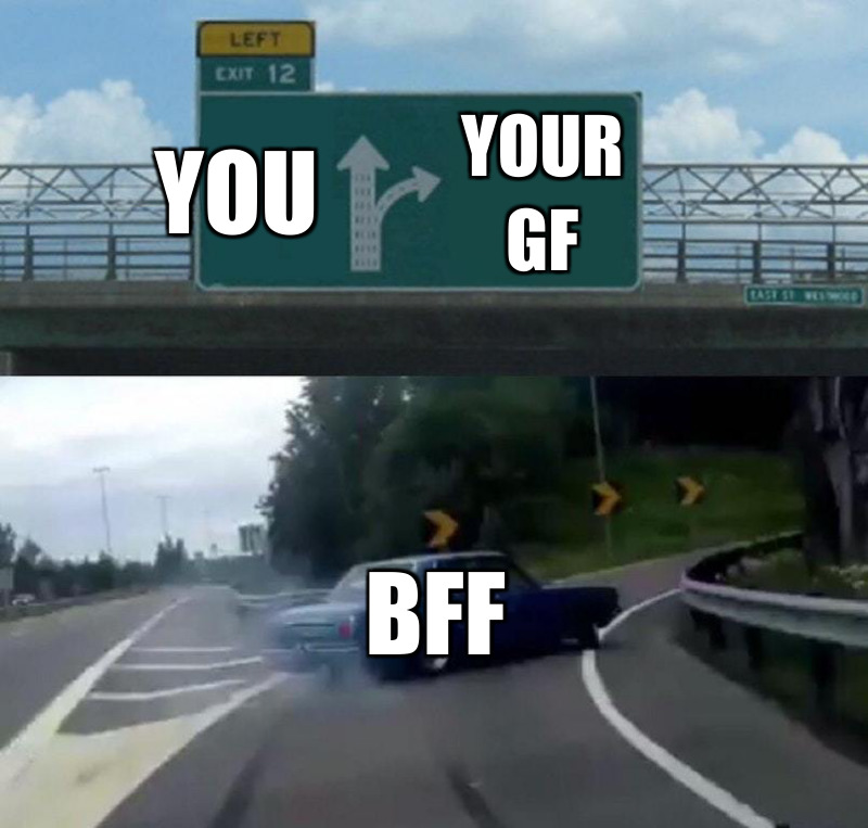 Your gf; You ; Bff