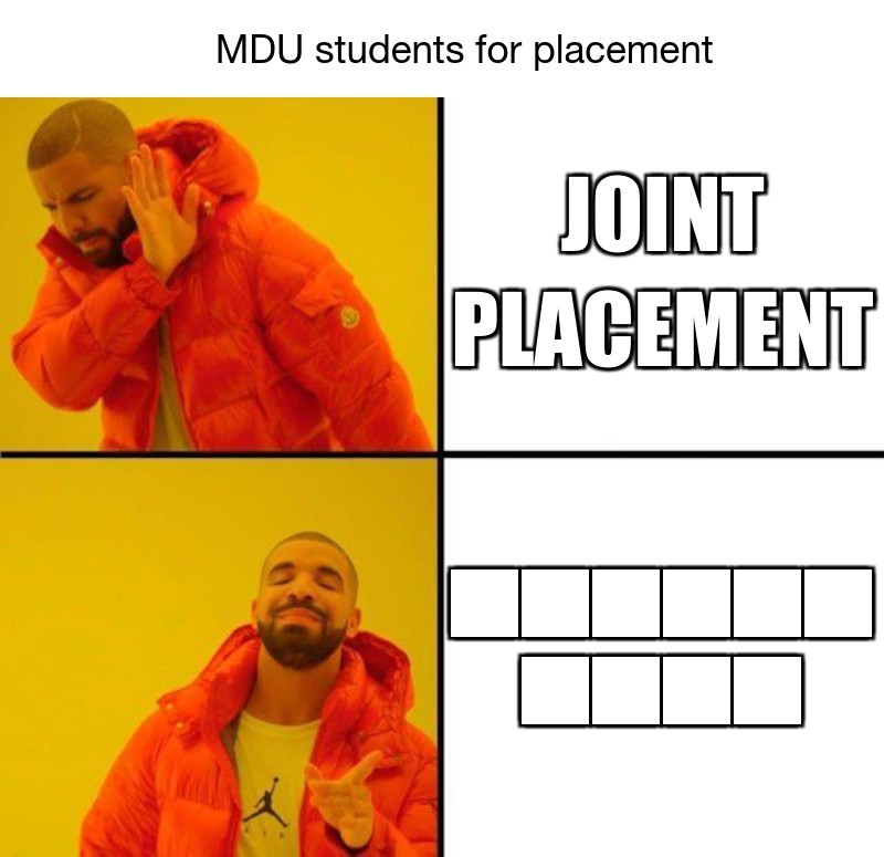 Joint  Placement;                   MDU students for placement; रोजगार  मेला