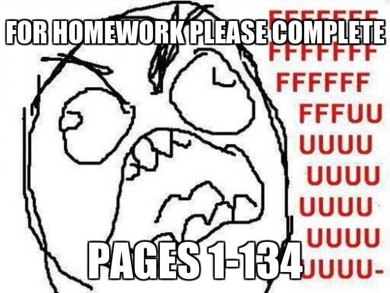 Pages 1-134; For homeWork please compleTe