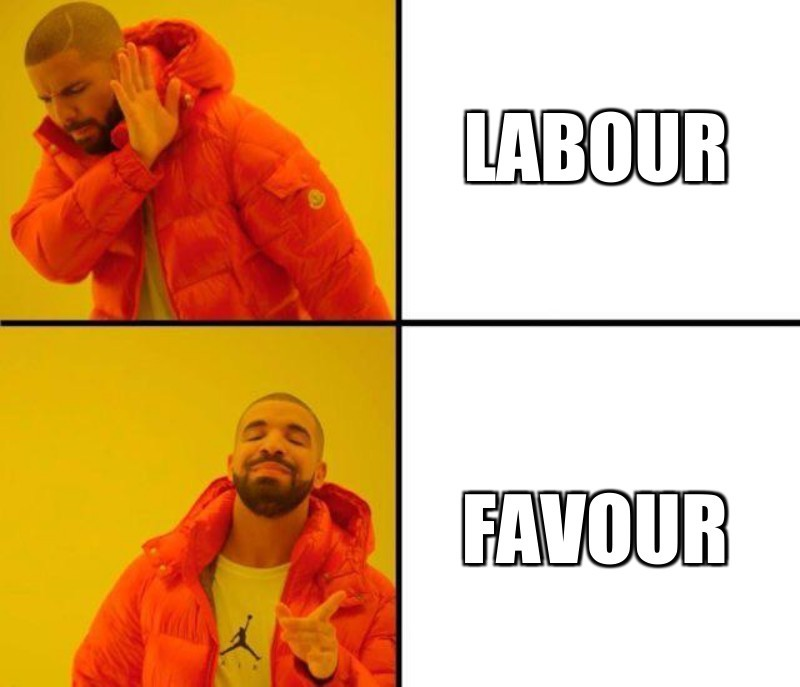 Labour; favour